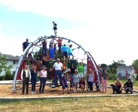 28th Street Playground with volunteers