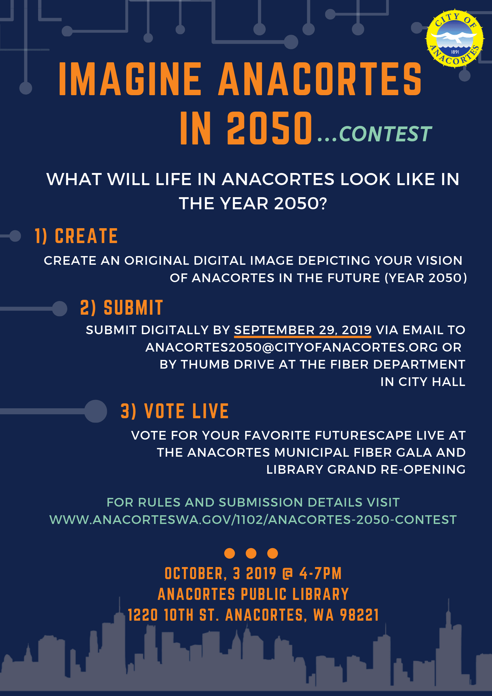 Anacortes 2050 Contest Flyer