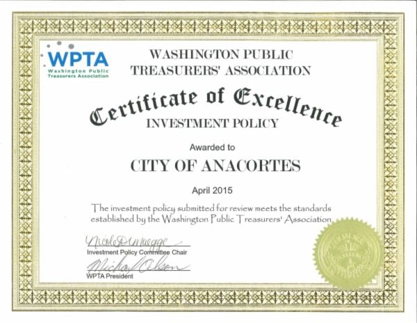 WPTA Certificate of Excellence