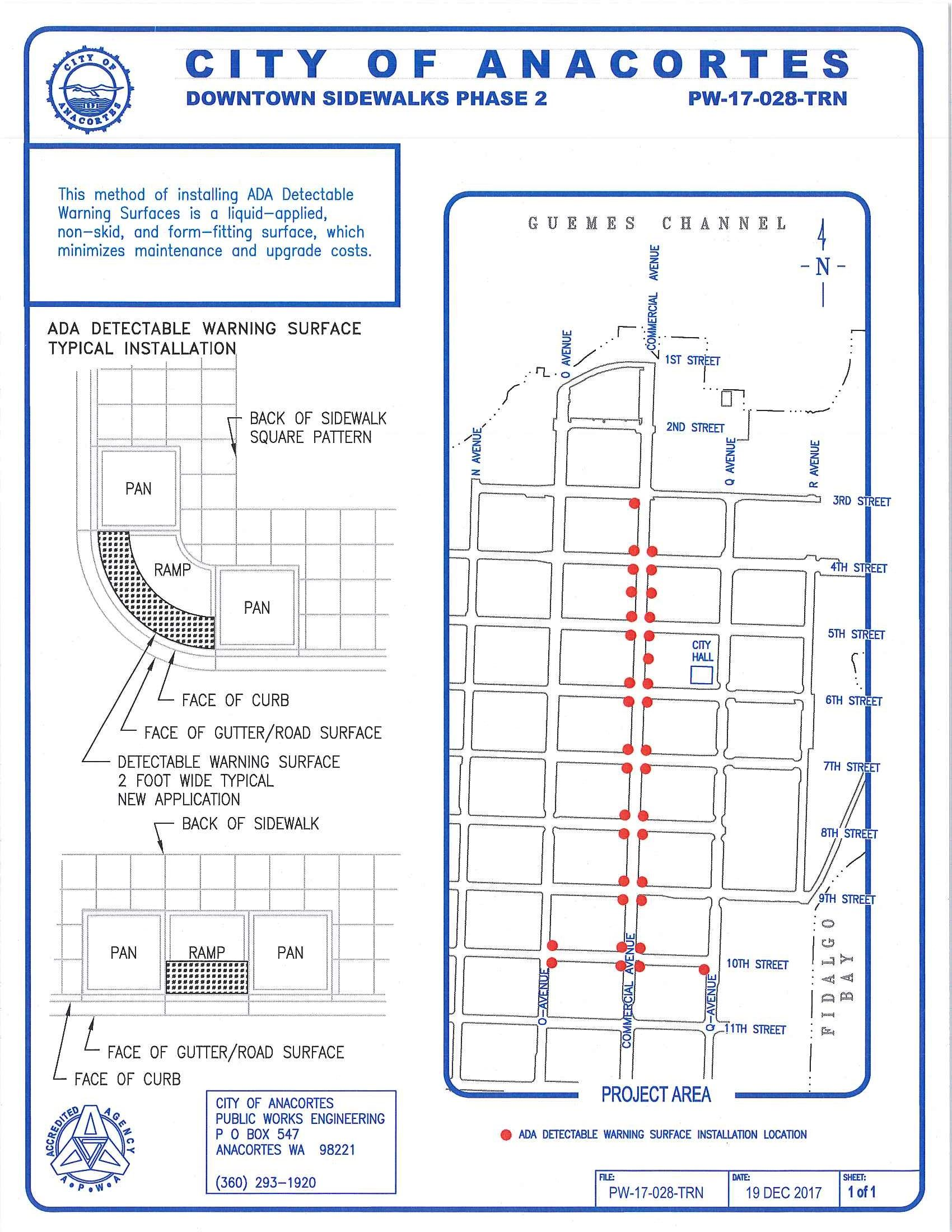 Downtown Detectable Warning Surface project