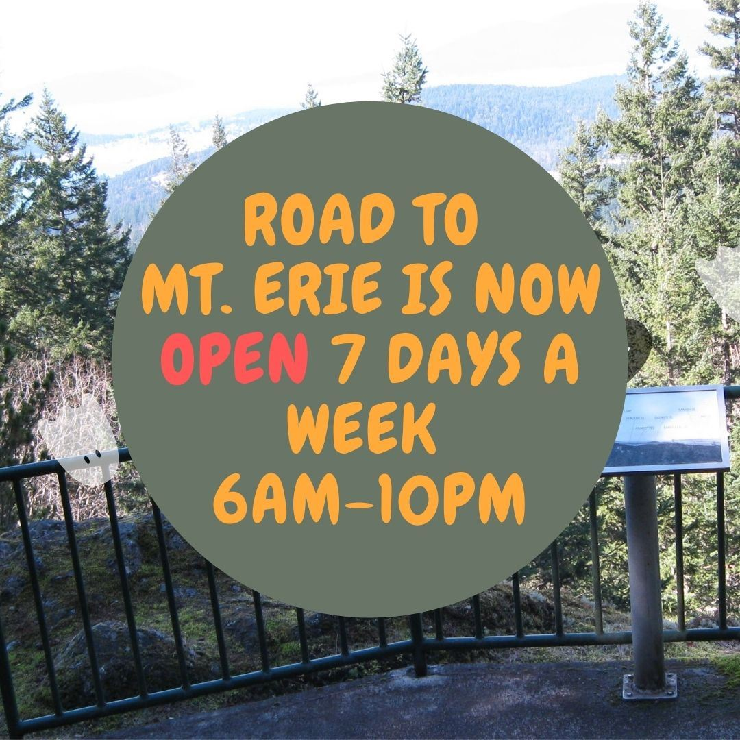 Road to Mt. erie is now open with no restrictions