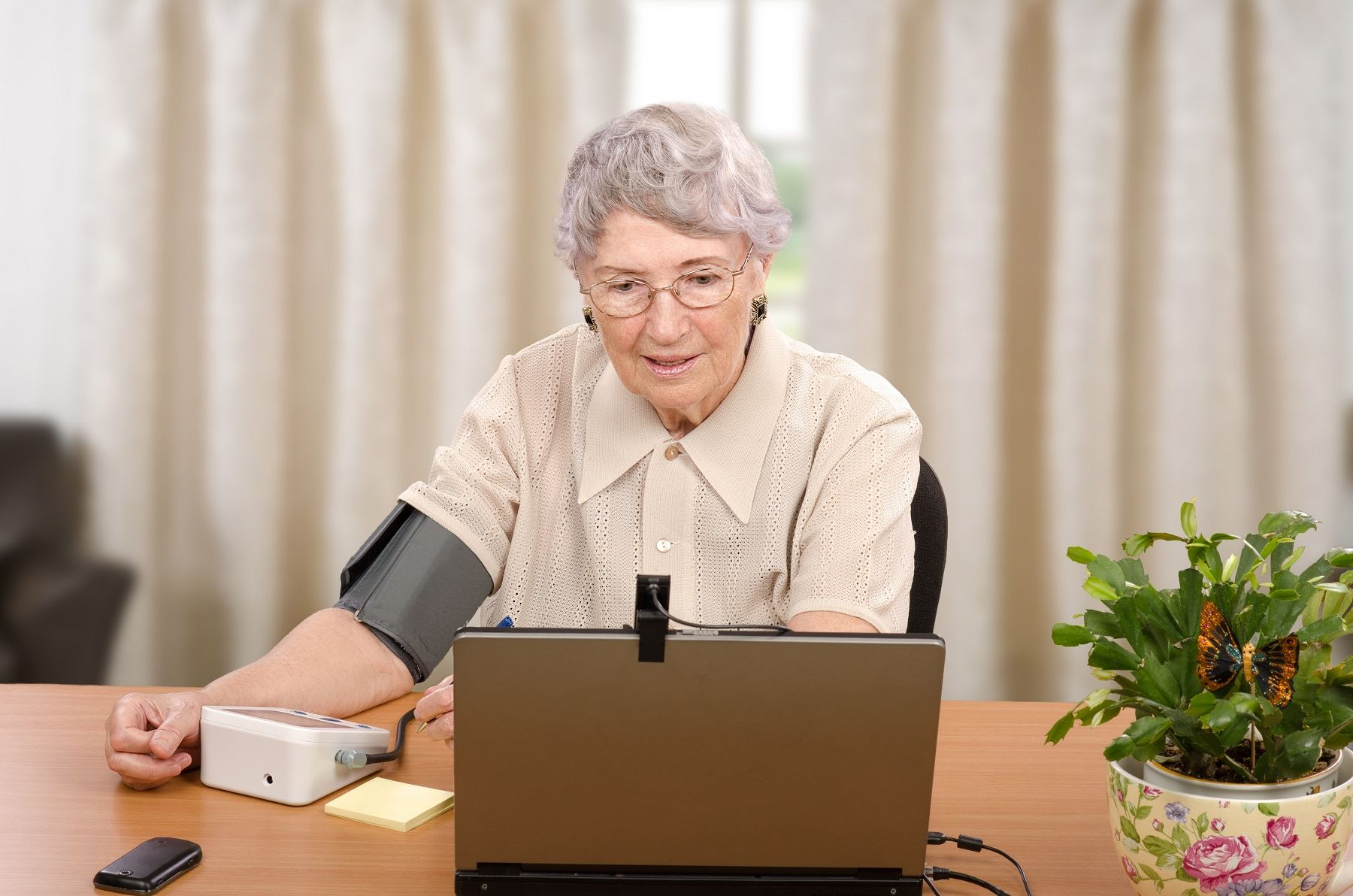 telehealth health computer old woman